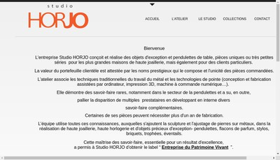 Site internet de Studio Horjo