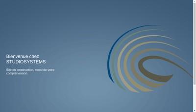 Site internet de Studio Systems