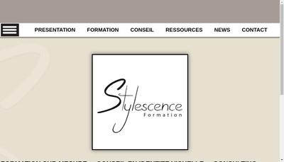 Site internet de Stylescence Formation