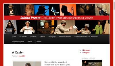 Site internet de Subito Presto