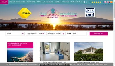 Site internet de Agence Sud Immobilier