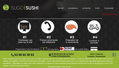 Site internet de Sugoi Sushi