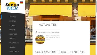 Site internet de Sun'Go Stores 68