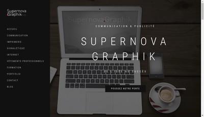 Site internet de Supernova Graphik