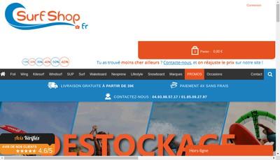 Site internet de Surfshop Fr