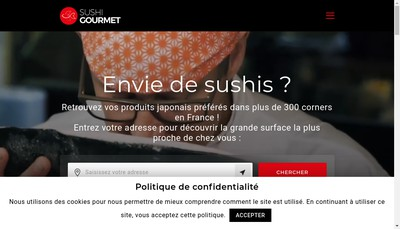 Site internet de Sushi Gourmet Annecy