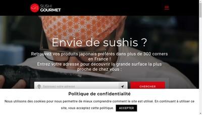Site internet de Sushi Gourmet Tours