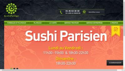 Site internet de Sushi Parisien