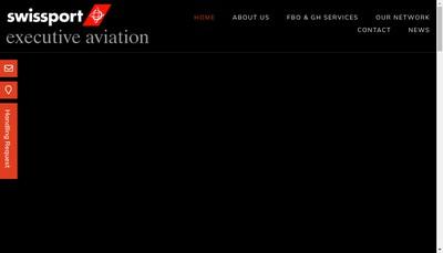 Site internet de Swissport Executive