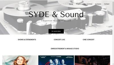 Site internet de Syde & Sound