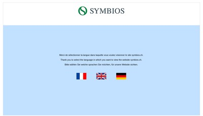 Site internet de Symbios France SAS