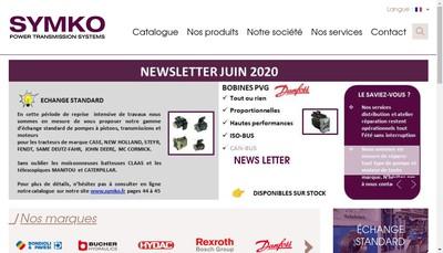 Site internet de Symko