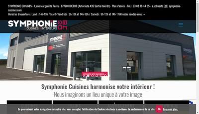 Site internet de Symphonie Cuisines