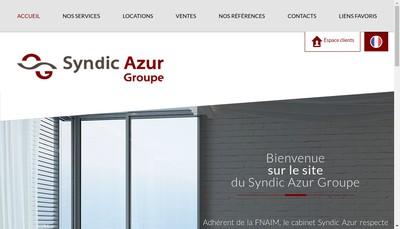 Site internet de Syndic Azur