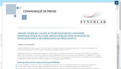Site internet de Synerlab Developpement