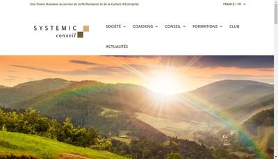 Site internet de Systemic Conseil
