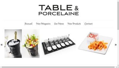 Site internet de Table et Porcelaine