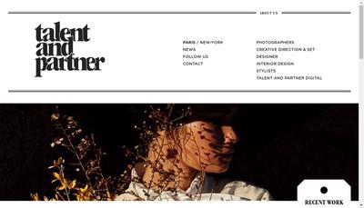 Site internet de Talent And Partner