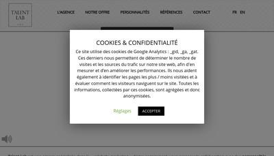 Site internet de Talent Lab