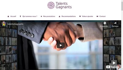 Site internet de Talents Gagnants