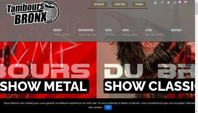 Site internet de Tambours du Bronx Production