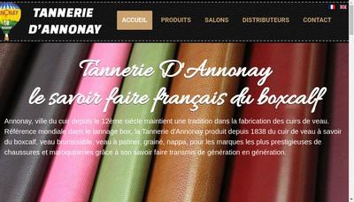 Site internet de Tannerie d'Annonay