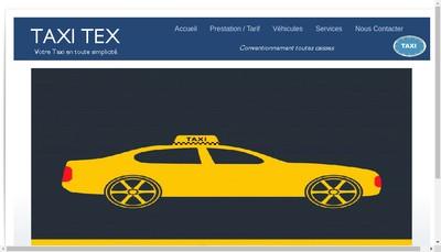 Site internet de Taxi Tex