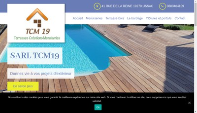 Site internet de Tcm 19 Terrasses Creations Menuiserie 19