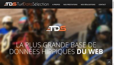 Site internet de Turf Data Selection