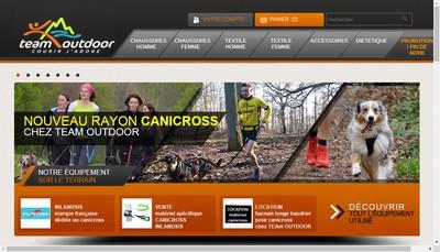 Site internet de Societe Team Outdoor