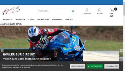 Site internet de Team Performance 55