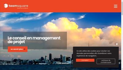 Site internet de Teamsquare