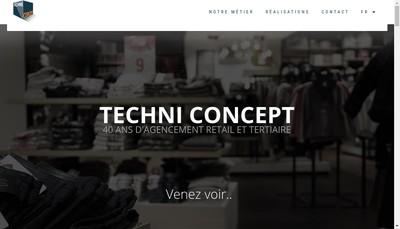 Site internet de Techni Concept