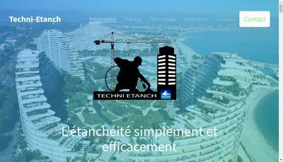 Site internet de Techni Etanch
