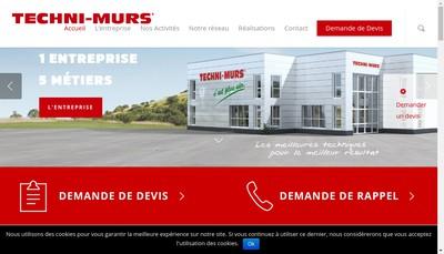 Site internet de Techni Murs 18