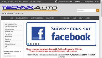 Site internet de Technikauto