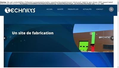 Site internet de Technilys