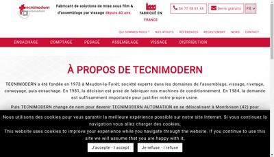 Site internet de Tecnimodern Automation