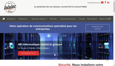 Site internet de Telelec Datacom