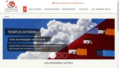 Site internet de Tempus Interim