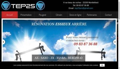 Site internet de SARL TEP 25 Train Essieu Pro 25