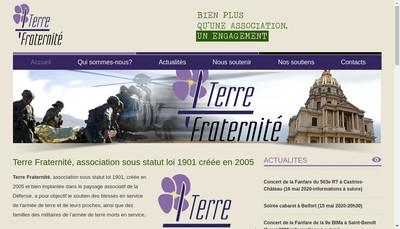 Site internet de Association Terre Fraternite
