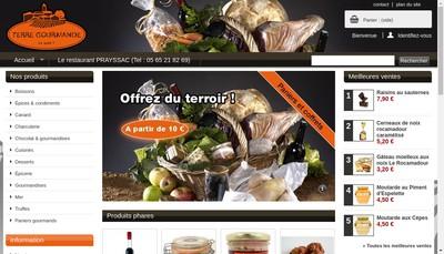Site internet de Terre Gourmande