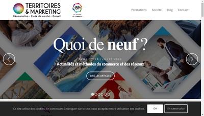 Site internet de Territoires & Marketing