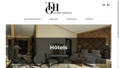 Site internet de The Great Hospitality