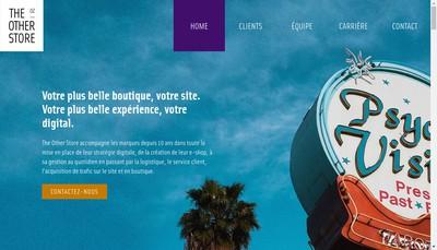 Site internet de The Other Store