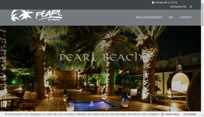Site internet de Pearl Beach