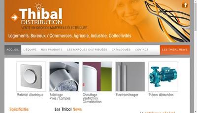 Site internet de SARL Thibal Distribution