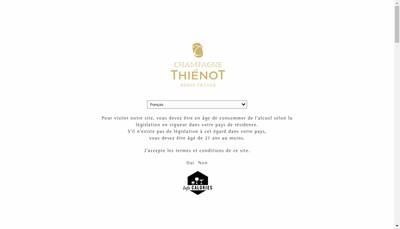 Site internet de Thienot Bordeaux Champagne Investissement