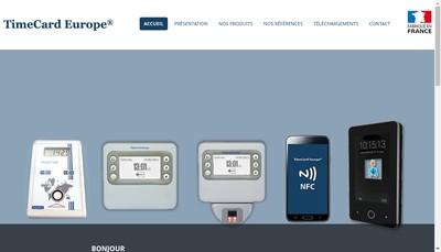 Site internet de Timecard Europe